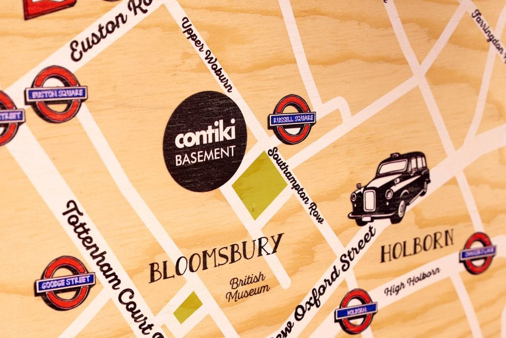 Contiki Basement map