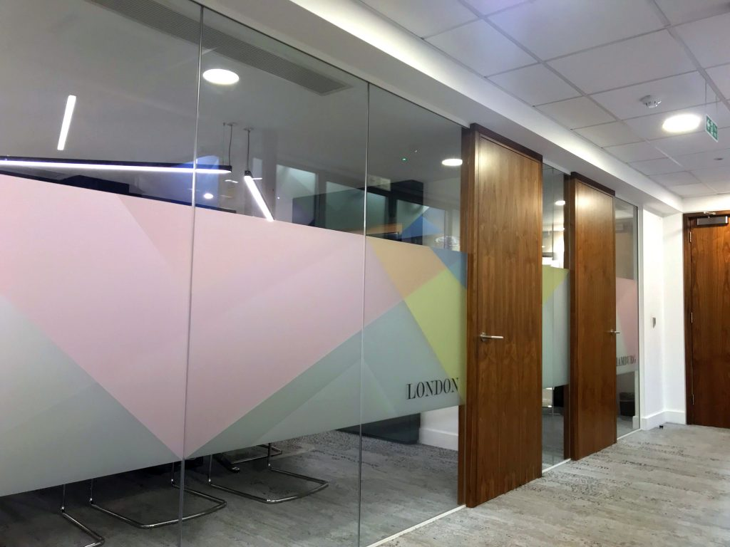 Glass Manifestation and signage ballroom